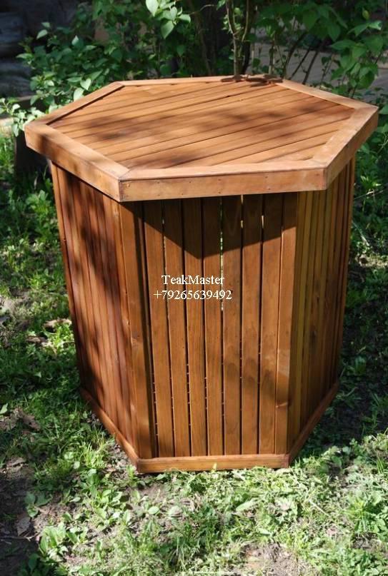 Деревянные мусорки своими руками 45